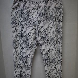 Black White Marble L Marika Sport Leggings 12 14